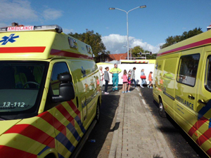 Ambulances in het finishgebied