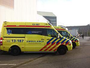 Stand by ambulance bij de RAI